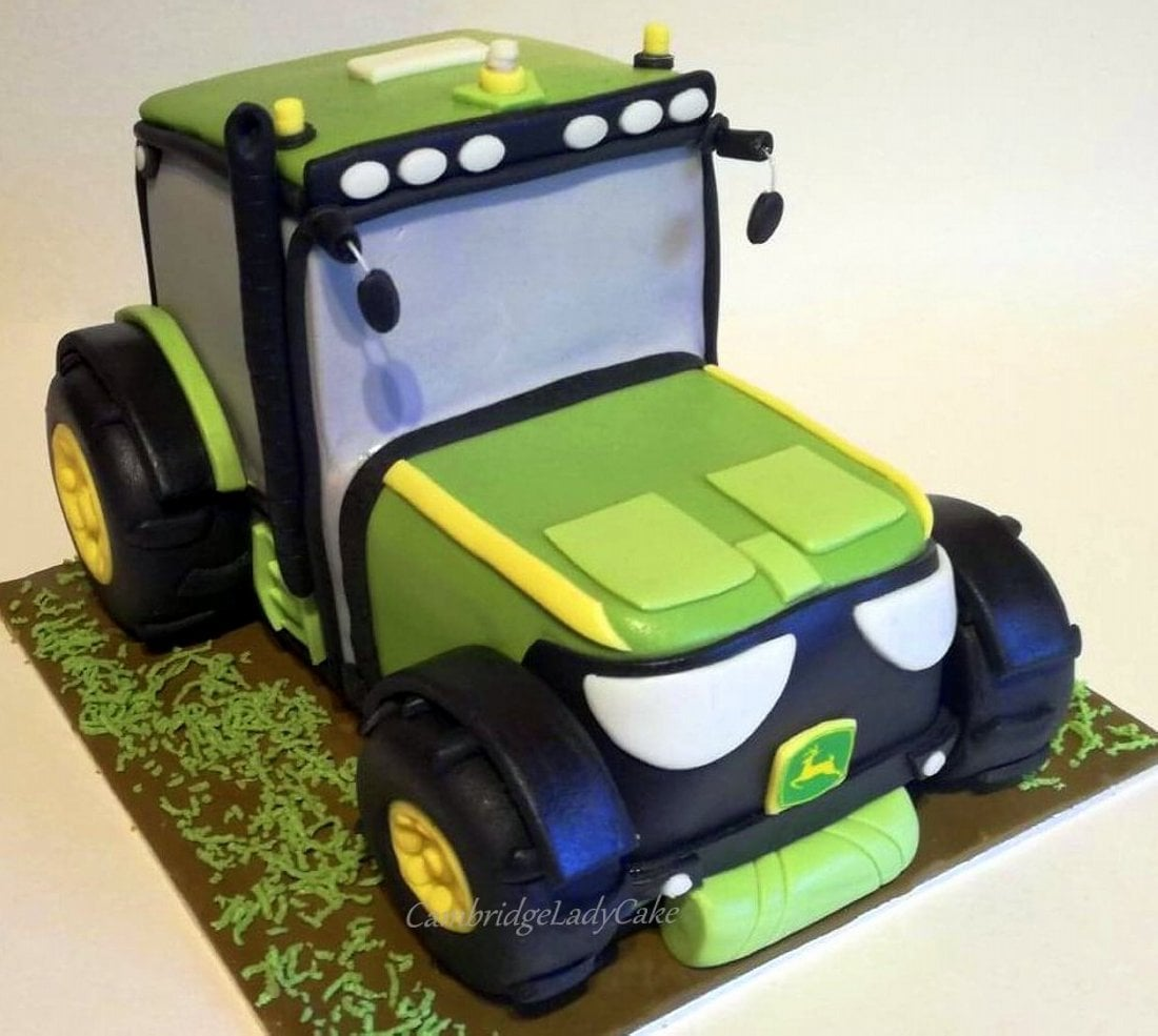 торт трактор с прицепом фото девушки