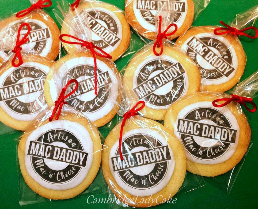corporate cookies with logo