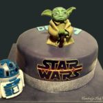 Tort Star Wars z figurka Yoda