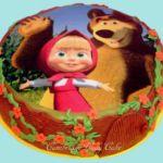 Tort - Masza i Niedżwiedż z jadalnym obrazkiem