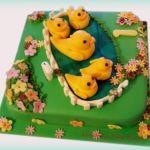Tort z kaczkami