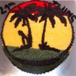 Tort z motywem Karaibów.