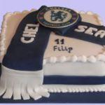 Tort sportowy z logo Chelsea