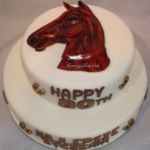 Tort z motywem konia