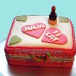 3D Tort - Kuferek z kosmetykami.