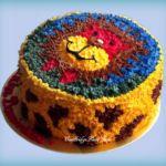 Tort maślany z motywem lwa