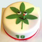 Tort z motywem marihuany