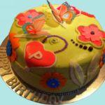 Tort dla dziewczynki z motylkami